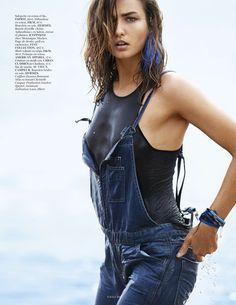 Vogue Paris April 2014 | Andreea Diaconu by Gilles Bensimon