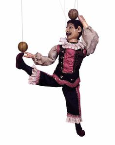 Ball Juggler Marionette, Tiller Family Marionette Company, Late 19th century, Museum no. S291-1999