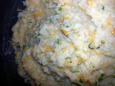 "Roasted Garlic Mashed Cauliflower! ""Great alternative to mashed potatoes!""  @allthecooks #recipe #cauliflower #side #vegetables #healthy #easy"
