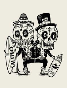 nice Posada influenced style: Ilustrações legais de Alejandro Giraldo