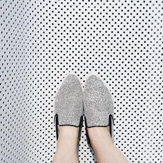 A little texture play with our favorite Bradford slip on!