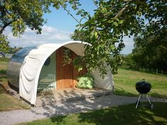 Eden Camping Cabins, Glastonbury, Somerset. If you are here in the autumn you will have endless apples to forage and eat http://www.organicholidays.com/at/3010.htm