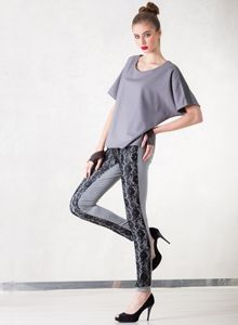 Grey Leggings Lace