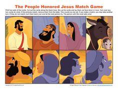 Jesus Triumphal Entry into Jerusalem Match Game | Bible Activities for Children