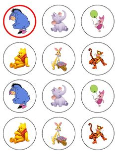 Of Winnie The Pooh 12 X 5 4cm Edible Icing Cup Cake Toppers Wallpaper cakepins.com