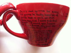 Items similar to Mug with great men quotes from The Notebook/P. I Love You/The Vow/TheTimeTraveler'sWife/Pride and Prejudice/Wuthering Heights and Gift Box on Etsy Great Man Quotes, Men Quotes, The Notebook Quotes, Ps I Love You, The Cure, Mugs, Handmade Gifts, Etsy, Kid Craft Gifts