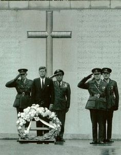 John F Kennedy at Arbour Hill Ireland in 1963 Easter 1916 Rising