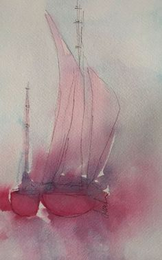 Buy Red Sailboat, Watercolours by Darlene Watson on Artfinder. Discover thousands of other original paintings, prints, sculptures…