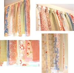 """""""Jelly Roll"""" valance - Click image to find more DIY & Crafts Pinterest pins"""
