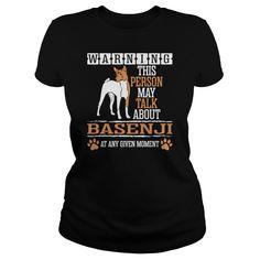 Warning Person May Talk Basenji Any Moment - Mens T-Shirt