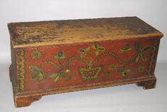 DEORATED BLANKET CHEST. Schoharie County, New York.