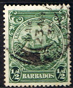Barbados 1938 Badge of the Colony SG 248 Scott 193Fine Used SG 248 Scott 193 Other West Indian Stamps HERE