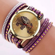 Watch - Elephant Bling Bracelet Watch - The Sparkle Place