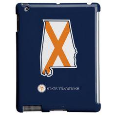 Alabama Auburn Traditional iPad Case Navy
