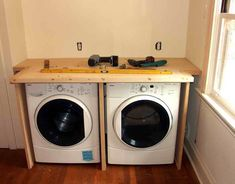 Painting Of Modern Design Of Washer And Dryer Cabinet