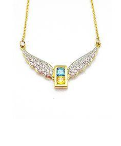9K Gold Archangel Michael Wings Pendant – MFN0005G-94