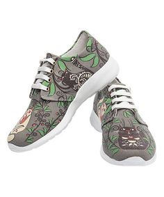 Look what I found on #zulily! Gray & Green Cats Canvas Lace-Up Sneaker #zulilyfinds