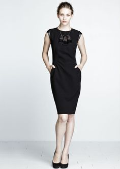 Layfayette 148 NY Sleek Tech Cloth Cosette Dress