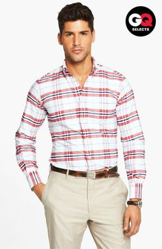 Thom Browne Plaid Oxford Shirt available at Nordstrom