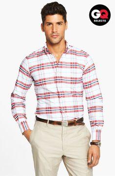 Thom Browne Plaid Oxford Shirt #Nordstrom #GQSelects