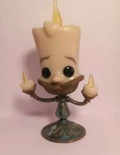 Funko Pop Vinyl Custom Patina Disney gid lumiere beauty and the beast in Collectibles | eBay