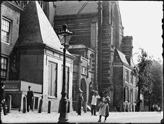 Oudekerksplein, Amsterdam 1894. Foto: Jacob Olie