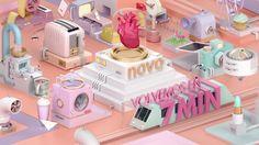 Motion Graphic Design, NOVA winter ID´s  von fabio medrano