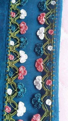 2017 New Anatolian Job Crochet Needlework Models and Manufacturing & Tığ iÅ & Crochet Lace Edging, Crochet Borders, Cotton Crochet, Crochet Doilies, Crochet Flowers, Crochet Stitches, Knit Crochet, Embroidery Jewelry, Beaded Embroidery