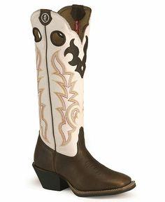 Tony Lama 3R Series Buckaroo Boots - Square Toe