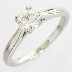 Harry Winston 0.56ct Diamond Solitaire Platinum Pt950 Ring US5.75 EU50 #1367 in Jewelry & Watches, Engagement & Wedding, Engagement Rings | eBay