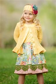 """""""Kids Easter dress from My Little Jules"""" Persnickety Clothing - Erika Dress Yellow"""