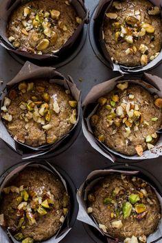 Crunchy + Sweet Baklava Muffins | edibleperspective.com #glutenfree