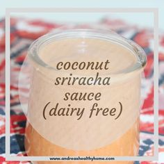 This delicious, slightly spicy, Coconut Sriracha Sauce is the perfect addition to any meal! I love it over rice/veggie bowls, eggs and on salads, but the possibilities are endless! Pin for later! Dairy Free Diet, Dairy Free Recipes, New Recipes, Asian Recipes, Yummy Recipes, Recipies, Yummy Food, Shrimp Dipping Sauce, Sriracha Sauce