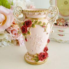【楽天市場】薔薇雑貨 ロココローズペン立て[1308]姫系雑貨 ペンスタンド おしゃれ ピンク かわいい:薔薇雑貨姫系雑貨のお店 RoseRich