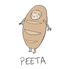 Lol haha funny pics / pictures / Peeta / bread / food / Hunger Games Humor