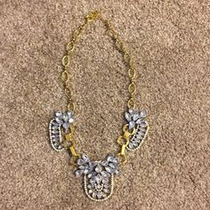 Gold and silver rhinestone necklace Blogger favorite. Gold and silver rhinestone statement necklace. Beautiful necklace that goes with everything. One of my personal favorites. Get today :) Brittany Lynn Collections Jewelry Necklaces
