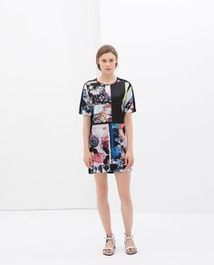 ZARA - WOMAN - CONTRASTING PRINTED DRESS// £29.99