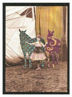 "Saatchi Online Artist Lynn Skordal; Assemblage / Collage, ""Circus Horses"" #art"