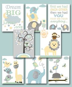 Baby Shower Gift Elephant Nursery Quotes Kids Wall by artbynataera