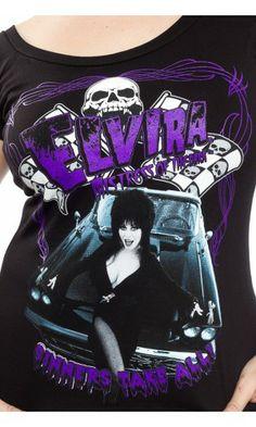 KREEPSVILLE 666 ELVIRA SINNERS OFF THE SHOULDER TOP. My new favorite top!