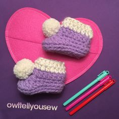 These gold-lined baby booties are absolutely adorable. Ready to Ship and perfect for Valentine's Day!