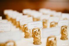 Gold Buddha Name Card Holders