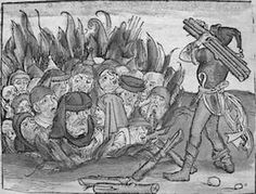 Jews were blamed for bringing the Black Plague to Europe and in many cases were burned and or killed before the plague could kill them