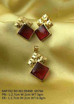 Garnet set for everyday wear India Jewelry, Gems Jewelry, Jewelery, Gemstone Jewelry, Gold Earrings Designs, Gold Jewellery Design, Gold Jewelry Simple, Garnet Jewelry, Jewelry Patterns
