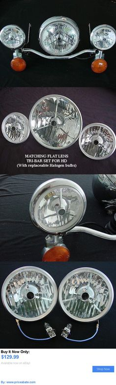 motorcycle parts: Harley Touring Halogen Tri-Bar Headlight And Passing Light Set. BUY IT NOW ONLY: $129.99 #priceabatemotorcycleparts OR #priceabate