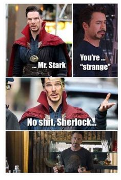 """They so need to have a """"Sherlock"""" reference in Infinity War!"""