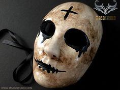 Purge Cross mask Anarchy movie horror Halloween Costume – Masquerade Mask Studio