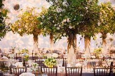 Garden-Inspired Reception Décor      Read More:  http://www.insideweddings.com/weddings/formal-wedding-inspired-by-central-park-springtime-in-new-york/683/