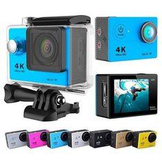 ProCam 4K/1080p Ultra HD Sports Camera - 12MP - 2 in. Screen - WIFI - 170 Degree Lens- By Epiktec