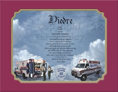 NEW Paramedics EMS Personalized gift by CreationsByFrannie on Etsy, $18.95